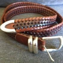 Fossil Men's Woven Leather Belt Photo
