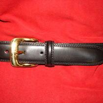 Fossil Mens Black Leather Belt   Size 38 Photo