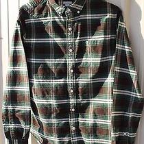 Fossil Mens Button Down Ls Small Thick Green Plaid Very Nice Quality Photo