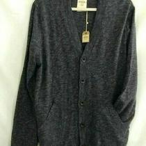 Fossil Mens Damon Cardigan Sweater Charcoal Gray Melange v Neck Pockets Xl New Photo