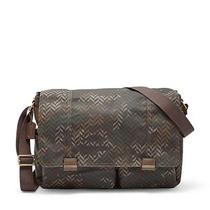Fossil Mens Field Camouflage Messenger Crossbody City Laptop Work Bag Camo Photo