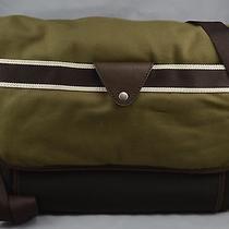 Fossil Mens Lane Messenger Shoulder Crossbody Lap Top Computer Bag Olive Sbg1046 Photo