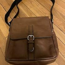 Fossil Mens Leather Messenger Bag Brown Leather Photo