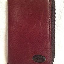 Fossil Mens Leather Zip Around Iphone 5 Case/wallet Brown Photo