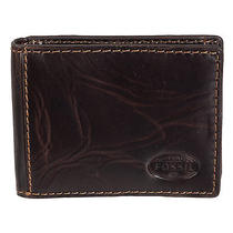 Fossil Mens Norton Flip Id Bifold Brown Wallet Photo