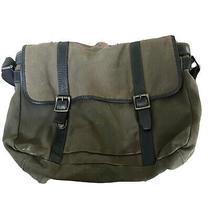 Fossil Mens Shoulder Messenger Bag Laptop Green Cow Hide Leather  Photo
