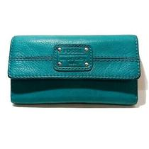 Fossil Mercer Teal Leather Flap Wallet Photo