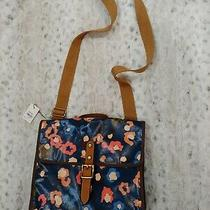 Fossil Messenger Bag Coated Canvas - Nwt Photo