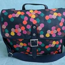 Fossil Messenger Bag Crossbody Navy Multicolor Dot Photo