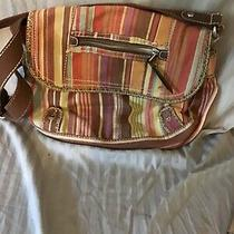 Fossil Messenger Bag Purse Crossbody Stripes Photo