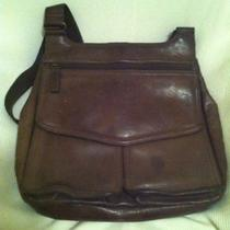 Fossil Messenger Bag Purse Dark Brown Photo