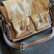 Fossil Messenger Crossbody Brief Laptop Bag Brown Leatherauthentic Full Grain Photo