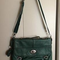 Fossil Messenger Laptop Bag Green Leather Photo