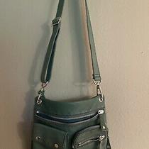 Fossil Messenger Sutter Green Leather Handbag Crossbody Purse Photo