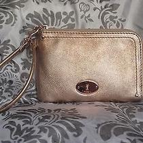 Fossil Metalic Rose Wristlet Fits Iphone and Android Claire Swl9093651 Photo