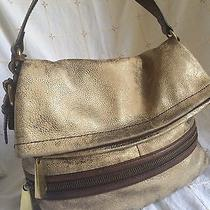 Fossil Metallic Distressed Leather Explorer Flap Purse Photo