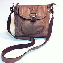 Fossil Milo Purple Leather Cross Body Purse Bag Photo