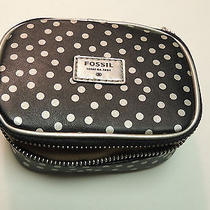 Fossil Mimi Fab Jewelry Box in Black and Silver Dots    Nwt Photo