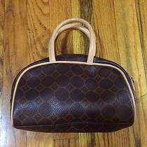 Fossil Mini Bowler Bag Tote Purse Handbag Sac Bowling Clutch 90s Circle Print Photo