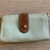 Fossil Mint Green Leather Wallet Multi Compartment & Compact Photo