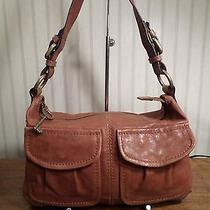 Fossil Modern Cargo Convertible Soft Genuine Leather Shoulder Handbag Nice Photo