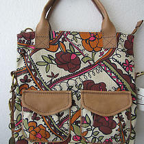 Fossil Modern Cargo Convertible Tote Crossbody Fabric Floral  Nwt Zb5253998 Photo