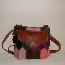 Fossil Modern Cargo Organizer Cross Body Patchwork Leather Bag  Photo