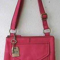 Fossil Modern Cargo Organizer Fuchsia Leather Crossbody Bag Shb4520690 Nwt Photo