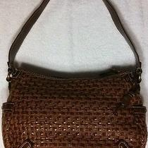 Fossil Modern Vintage Brown Woven Medium Handbag Photo