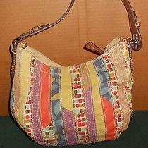Fossil Modern Vintage Cotton Patchwork Purse Hangbag W/key Photo