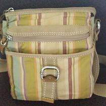 Fossil Modern Vintage Crossbody Canvas Bag Handbag Purse Adjustable Strap  Photo