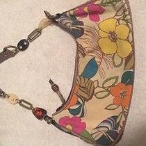 Fossil Modern Vintage Handbag Floral Canvas Bag Purse Photo