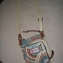 Fossil Modern Vintage Patterned Crossbody Purse With Leather Photo