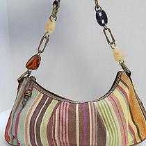Fossil Modern Vintage Striped Canvas Hobo Shoulderbag Photo