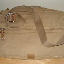 Fossil Modern Vintage Womens Handbag Size L Beige Cotton/polyester Photo