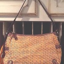 Fossil Modern Vintage Woven Vegan Bag/purse W/brown Trim Photo