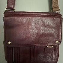 Fossil Morgan Traveler Burgundy Wine Leather Handbag Crossbody Purse Photo