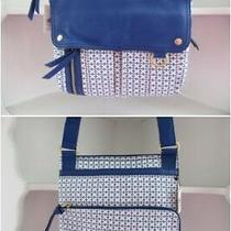 Fossil Morgan Traveler Crossbody Blue Sapphire Leather Messenger Bag New Tags Photo