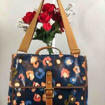 Fossil Multi-Color / Blue Florals Coated Canvas Messenger Crossbody Bag Photo