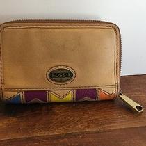 Fossil Multi-Color Leather Wallet Original Good Condition Low  Photo