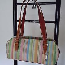 Fossil Multi-Color Stripe Leather Tote Bag Photo