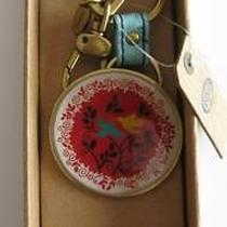 Fossil Multi-Colored Bird Key Fob Chain Sl4181998 Nwob Photo