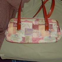 Fossil Multi-Colored Leather Handbag Small / Medium Hand Bag Photo