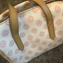 Fossil Multi Colored Leather Purse Cream Pink Yellow Photo