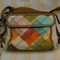Fossil Multi Fabric and Leather Patchwork Purse Shoulder Bag / Crossbody Zb2882 Photo