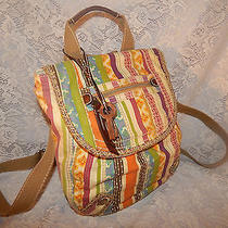 Fossil Multicolor Cotton  Backpack Photo