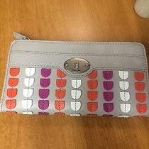 Fossil Multicolor Zip Around Leather Wallet Photo