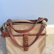 Fossil N. 054 the Original Premium Bag Tan W/ Leather Handle Crossbody Handba Photo