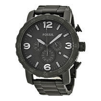 Fossil Nate Chronograph Black Dial Black Ion-Plated Men's Watch Photo