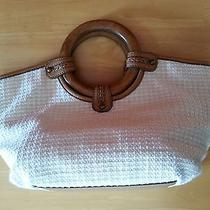 Fossil Natural Fibers and Wood Handles Satchel Photo